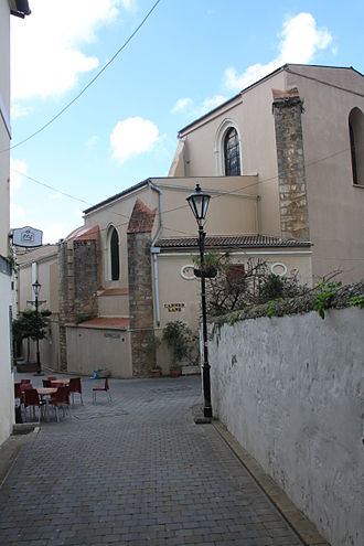 Edward Rapallo - Bishop Rapallo's Ramp and Cannon Lane (to the right) meet in Gibraltar