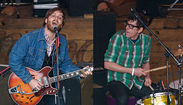 The Black Keys: links Dan Auerbach en rechts Patrick Carney.