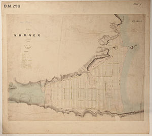Joseph Thomas (surveyor) - Black Map of Sumner from November 1849