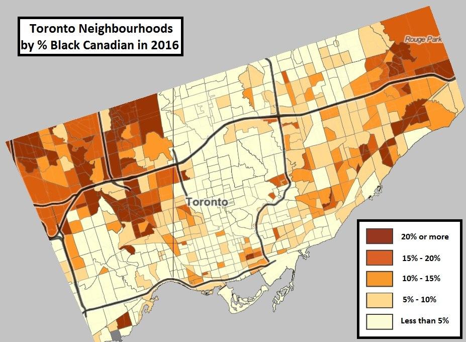 Black Neighbourhoods in Toronto