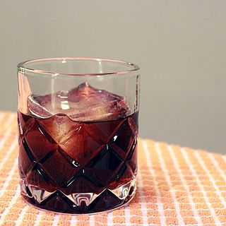 Black Russian Cocktail of vodka and coffee liqueur