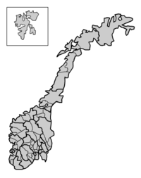 Blank Norway district map