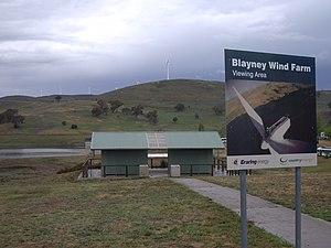 Wind turbines on public display - Image: Blayney Windfarm