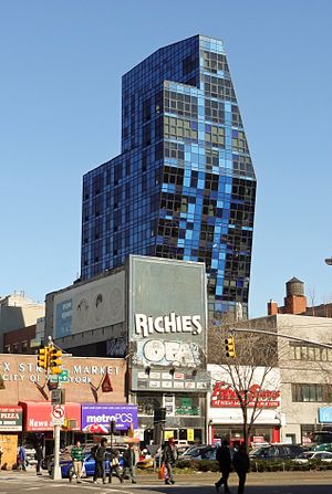 Lower East Side - The Blue Condominium was completed in 2007