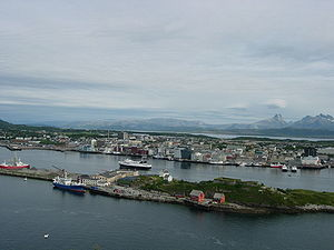 Bodø in july 2006, picture taken from Lille Hj...