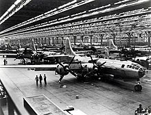 Boeing B-29 assembly line in Wichita in 1944