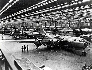Boeing B-29 Superfortress - Boeing assembly line at Wichita, Kansas (1944)