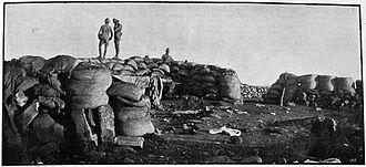 Kamfers Dam - Vacated Boer firing position at Kamfers Dam