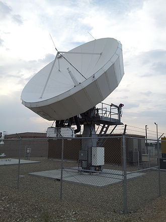 Ground station - A tier-1 satellite dish (manufactured by Level 3 Communications) in Boise, Idaho.