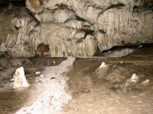 Llanes - Flowstone in Cueva Bolado