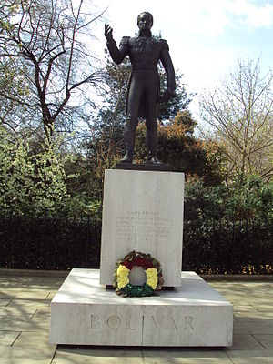 Statue of Simón Bolívar, London - The sculpture in 2010