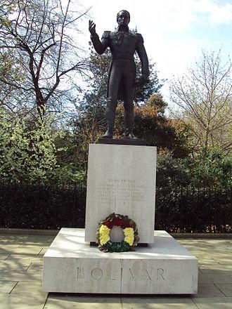 Statue of Simón Bolívar, London - The sculpture in 2010