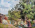 Boris Mikhailovich Kustodiev - The Bath - Google Art Project.jpg