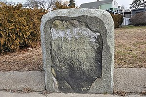 National Register of Historic Places listings in northern Boston - Image: Boston MA Milestone 7