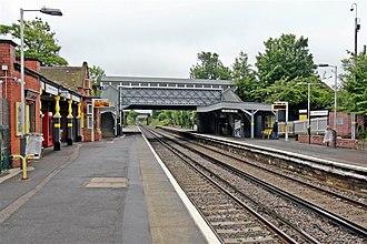 Wallasey Grove Road railway station - Image: Both platforms, Wallasey Grove Road Railway Station (geograph 2985737)