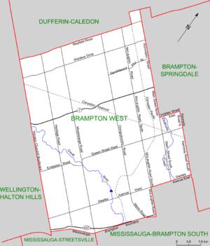 Brampton West - Map of Brampton West