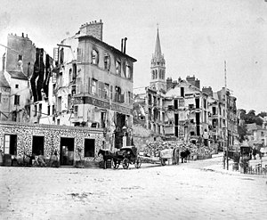 Siege of Paris (1870–71) - Saint-Cloud after French and German bombardment during the battle of Châtillon