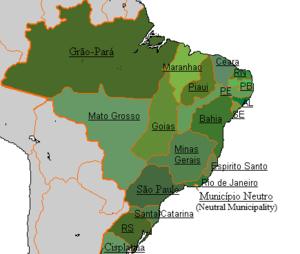 Provinces of Brazil - Provinces of the Brazilian Empire in 1825.
