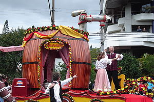 Oktoberfest of Santa Cruz do Sul - The Bierwagen from the 23th edition distributing free beer for the participants of the parade.