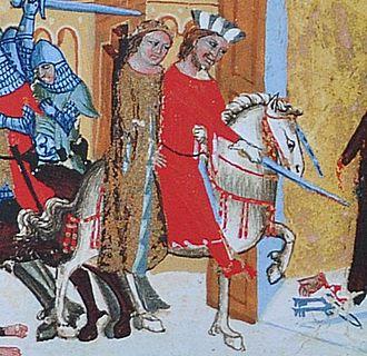 Judith of Schweinfurt - Bretislav abducting Judith, Chronicle of Dalimil