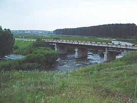 Bridge over Pyshma river near Beloyarskiy - Sverdlovskaya Oblast.jpg