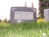 Brigham Young Jr.'s grave marker.