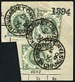 British postage stamps used telegraphically at Newmarket Grandstand 1890.jpg