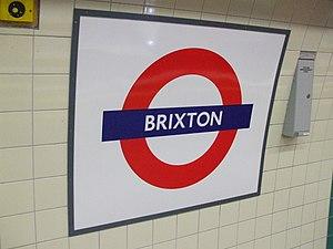 Brixton tube station - Image: Brixton tube station roundel 2