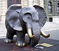Bronze elephant in front of Museum of Natural History - panoramio.jpg