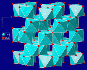 Brookite - Crystal structure of brookite