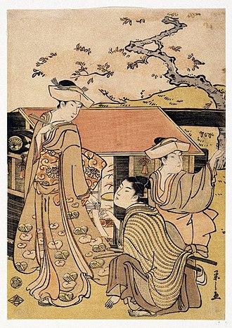 Eishi - Image: Brooklyn Museum Cherry Blossom Viewing at Gotenyama Hill Eishi Chobunsai