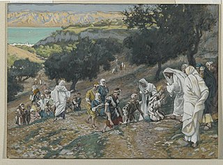 Jesus Heals the Blind and Lame on the Mountain