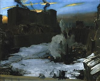Pennsylvania Station (New York City) - Pennsylvania Station Excavation by George Bellows (ca. 1907–1908). Brooklyn Museum