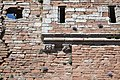 Brougham Castle - view of grotesques on keep.jpg
