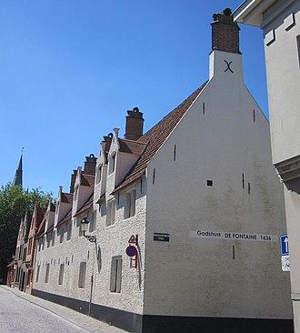 """Paul-Bernard de Fontaines - Almshouse """"Godshuis DE FONTAINE"""", Zwarteleertouwersstraat, Brügge"""