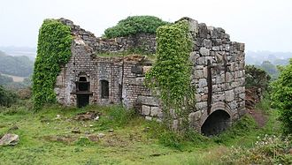 Wheal Busy - The remains of the Brunton calciner