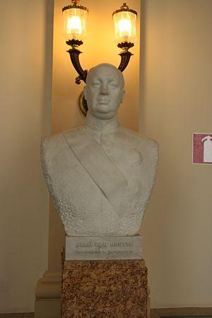 Jean Van Houtte - Van Houtte's official portrait bust in the Belgian Federal Parliament