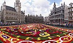 The Grand Place, decorated with a floral carpet