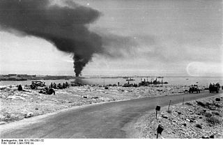 Axis capture of Tobruk