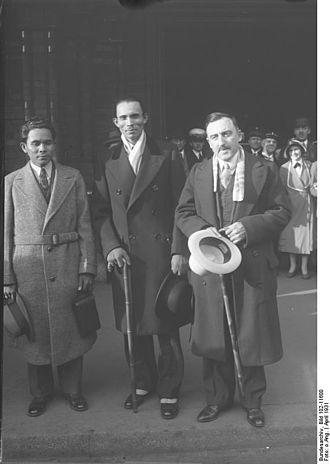Hilario Moncado - Hilario Camino Moncado (middle) in Berlin (1931)