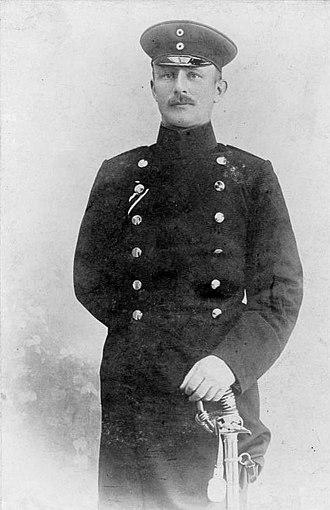 Paul von Lettow-Vorbeck - Captain von Lettow-Vorbeck, stationed in German South-West Africa in 1904