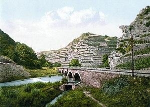 Ahr (wine region) - Image: Bunte Kuh Ahr 1900