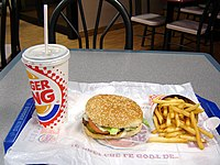An image of a Burger King Whopper combo.