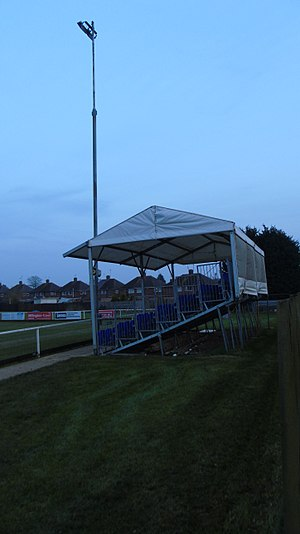 Burton Park Wanderers F.C. - Image: Burton Park Wanderers fc temporary pitch side covered seating stand