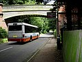 Bus under, rail over, Roughton Road station, Cromer - geograph.org.uk - 509897.jpg