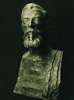 Jean Aicard - Jean Aicard by the sculptor Victor Nicolas (bronze bust, 1931).