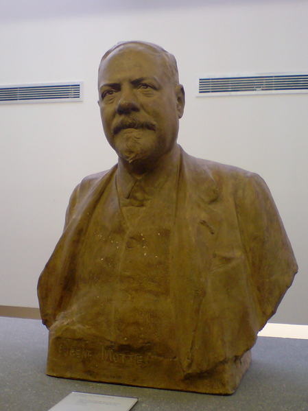 Cast bust of Eugène Motte, industrialist and major of Roubaix from 1902 to 1912. By Corneille Theunissen (1863-1918). Displayed in the Museum für Art and Industry in Roubaix, France