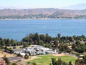 Butterfield Elementary School (Lake Elsinore, California) - Butterfield Elementary School from Calif. Hwy. 74 (Ortega Highway) behind school
