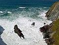 Butterhole - waves on rocks (1) - geograph.org.uk - 1300704.jpg