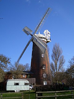 Buttrums Mill, Woodbridge grade II listed mill in the United kingdom
